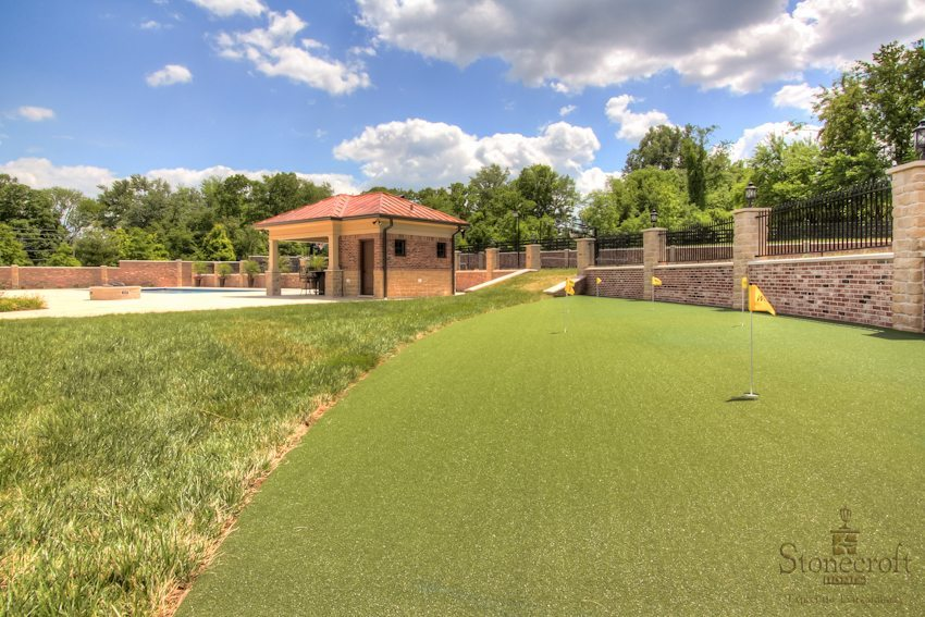 Outdoor Putting Green Project by Stonecroft Homes