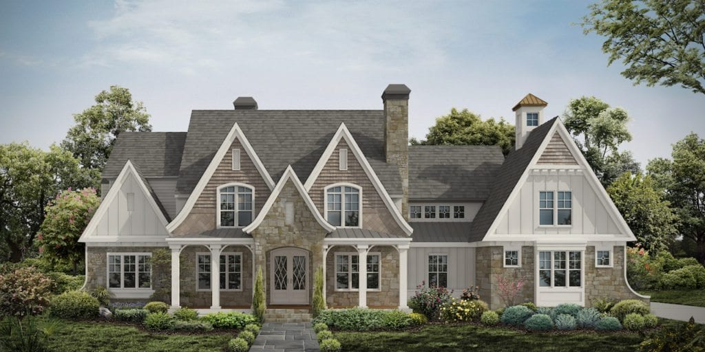 Plan Exterior Shingle Style marries Modern Farmhouse